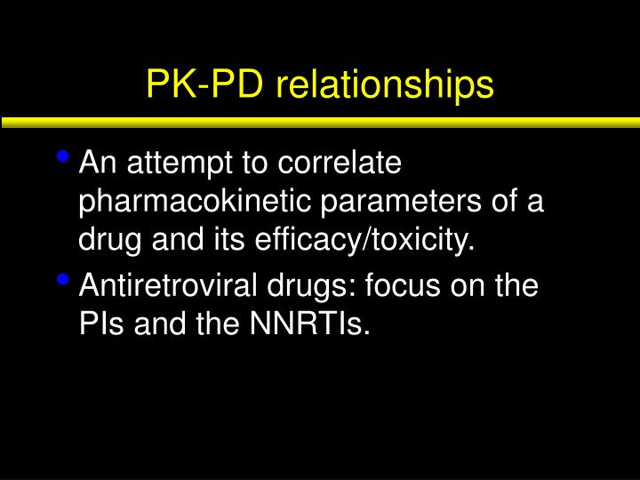 Pk pd relationships