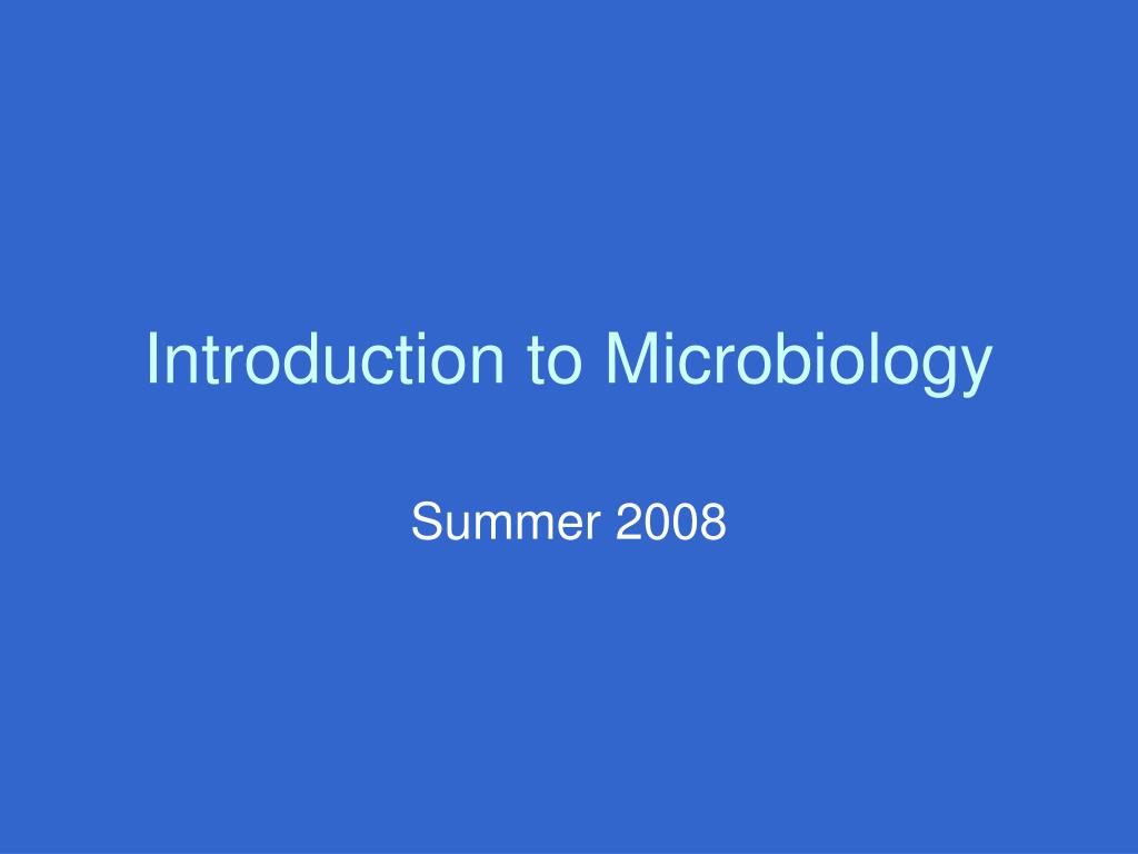 introduction to microbiology l.