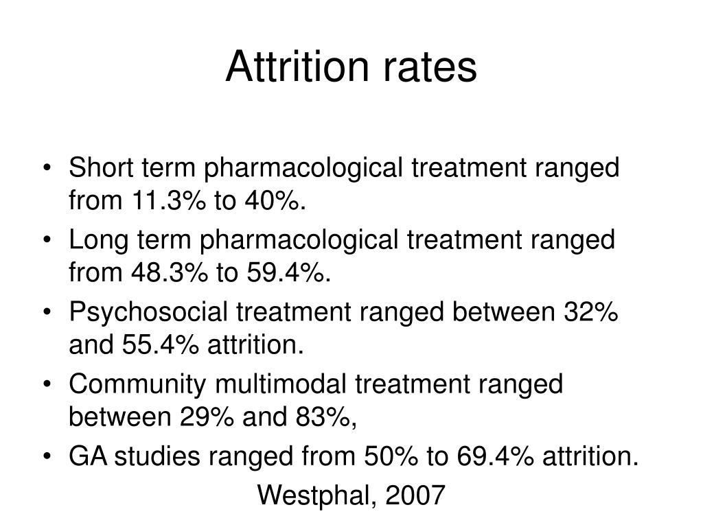 Attrition rates