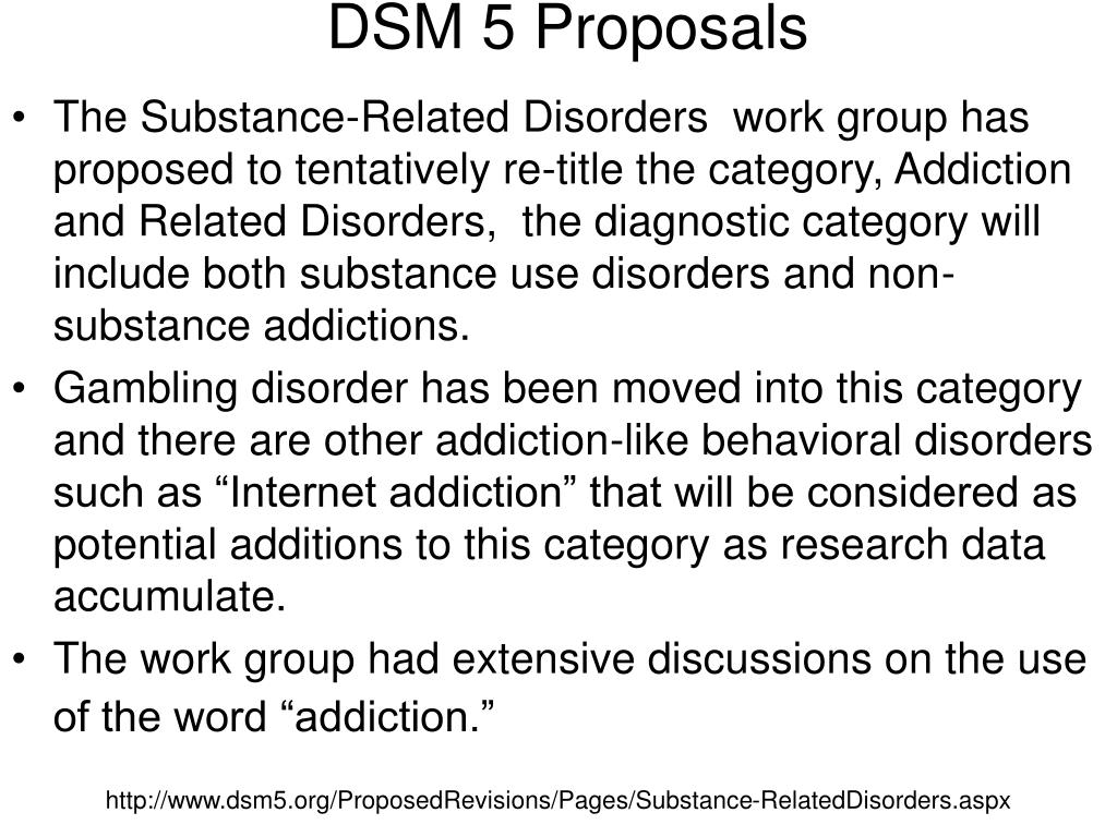 DSM 5 Proposals
