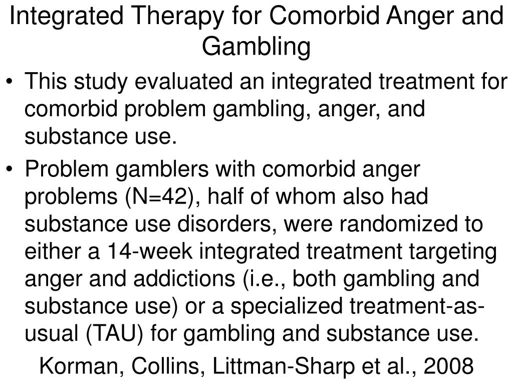 Integrated Therapy for Comorbid Anger and Gambling