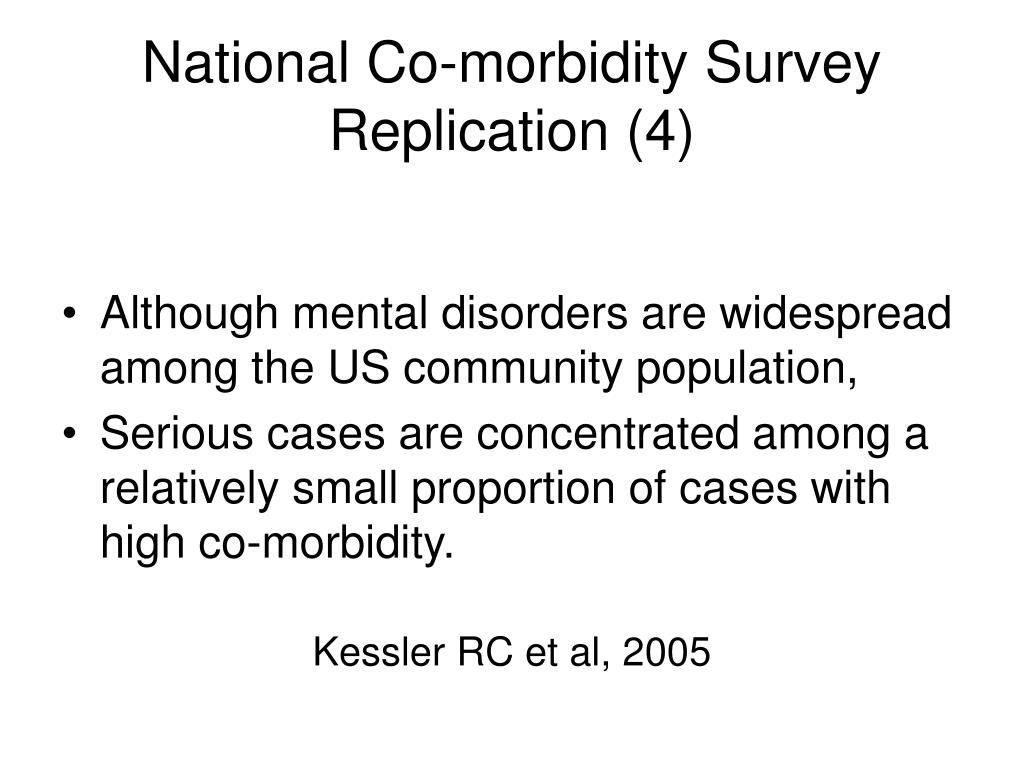 National Co-morbidity Survey Replication (4)