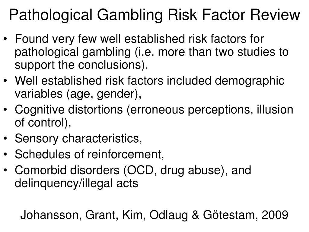 Pathological Gambling Risk Factor Review
