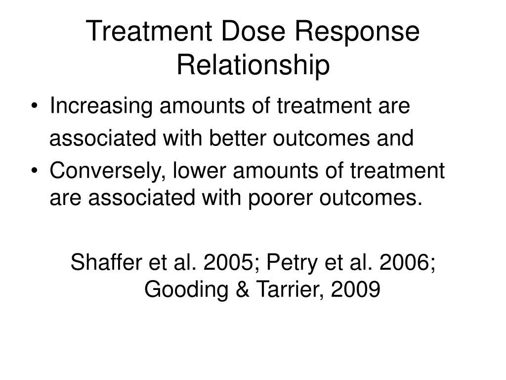 Treatment Dose Response Relationship