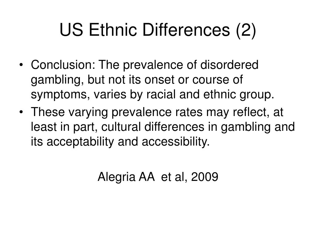 US Ethnic Differences (2)
