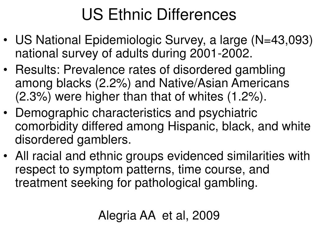 US Ethnic Differences