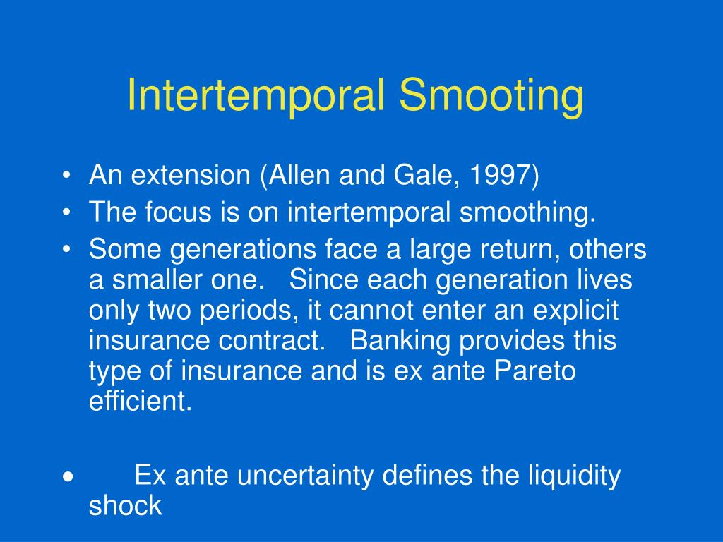 Intertemporal Smooting
