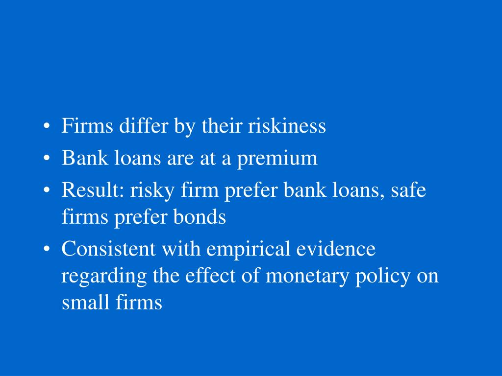 Firms differ by their riskiness