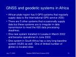 gnss and geodetic systems in africa