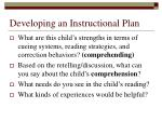 developing an instructional plan