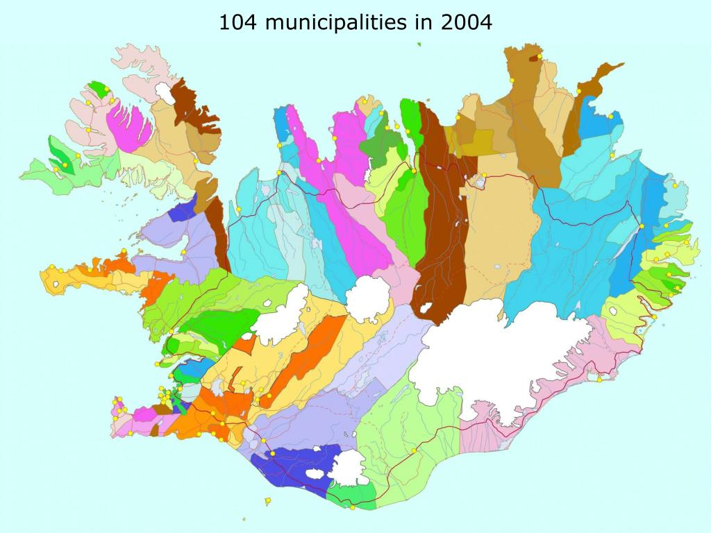 104 municipalities in 2004