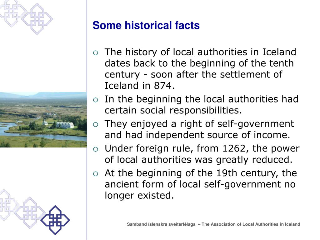 Some historical facts