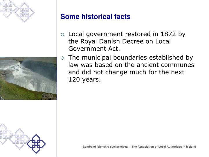 Some historical facts3