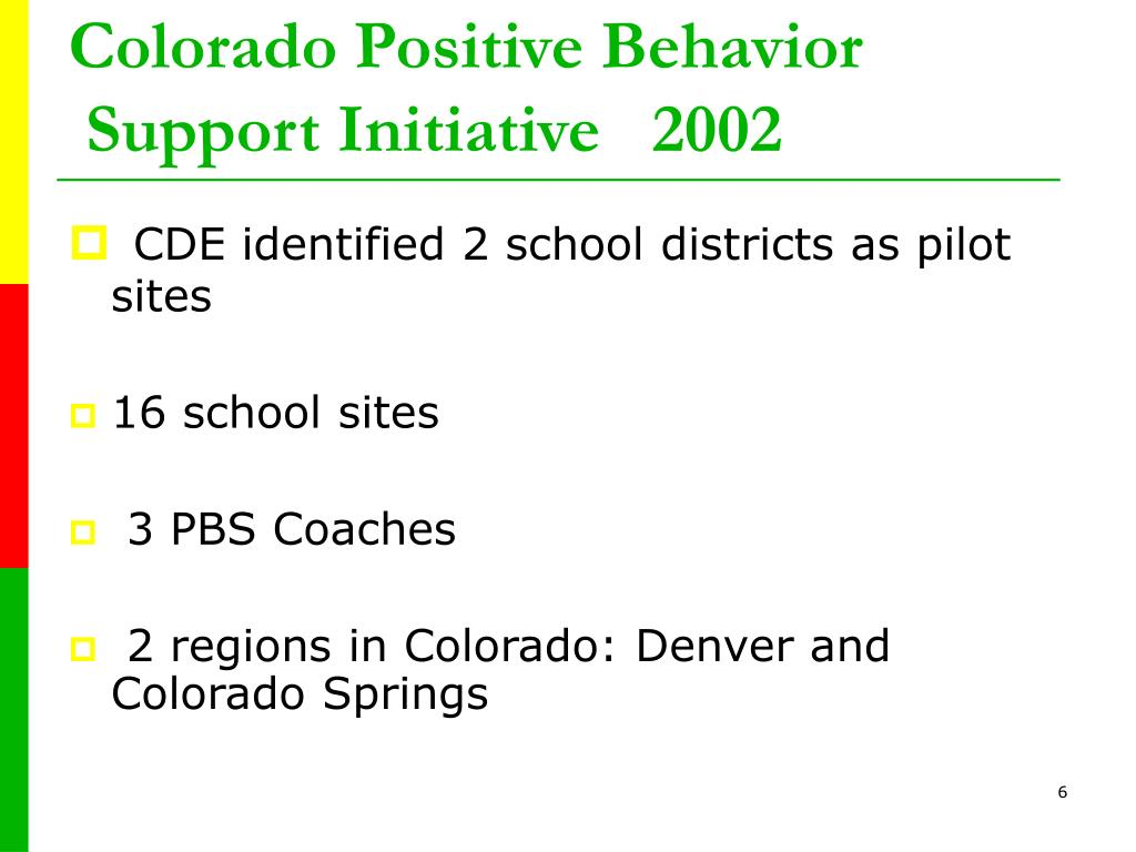 Colorado Positive Behavior