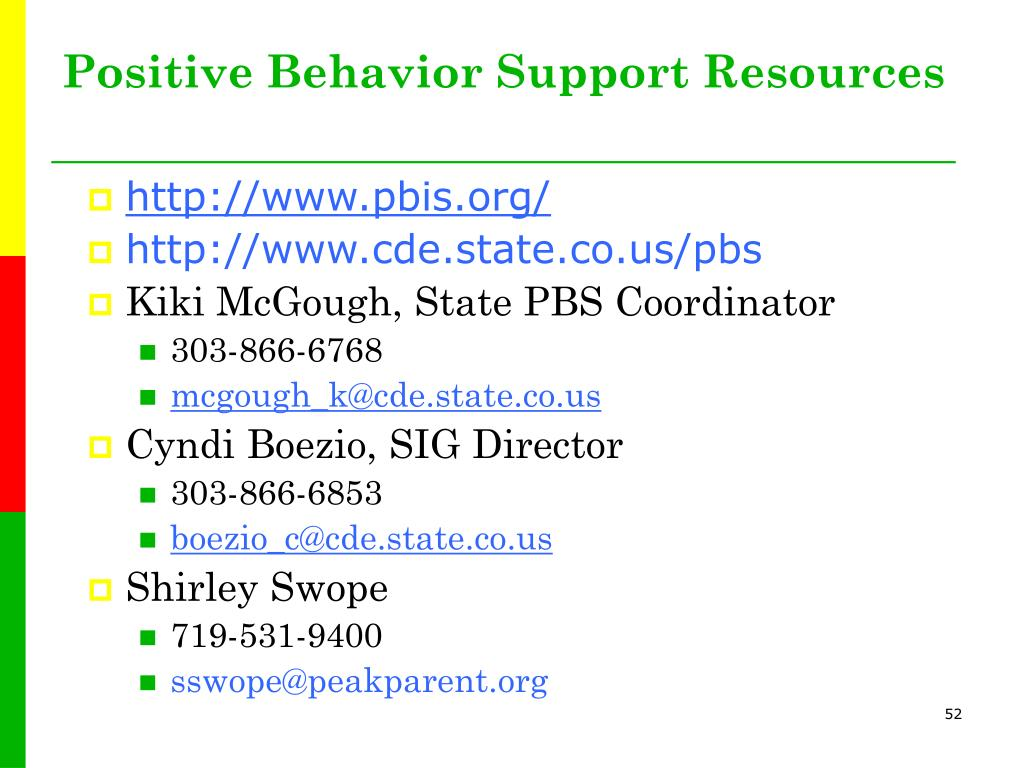 Positive Behavior Support Resources