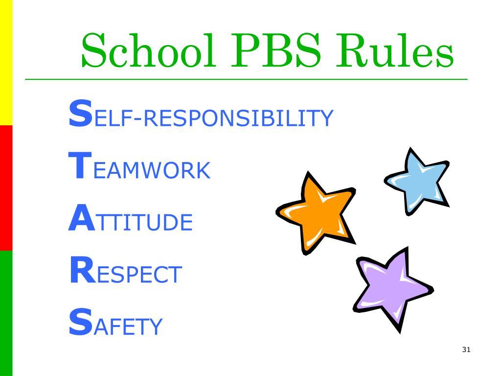 School PBS Rules