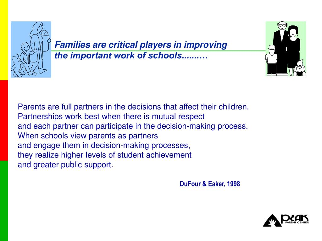 Families are critical players in improving