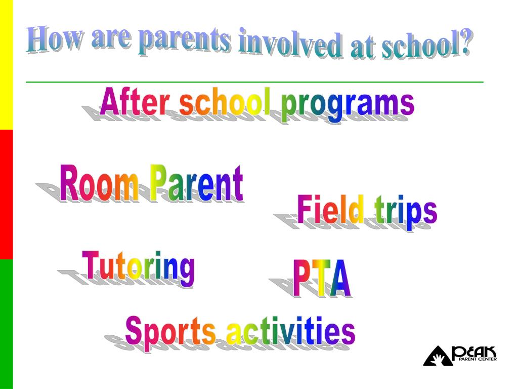 How are parents involved at school?