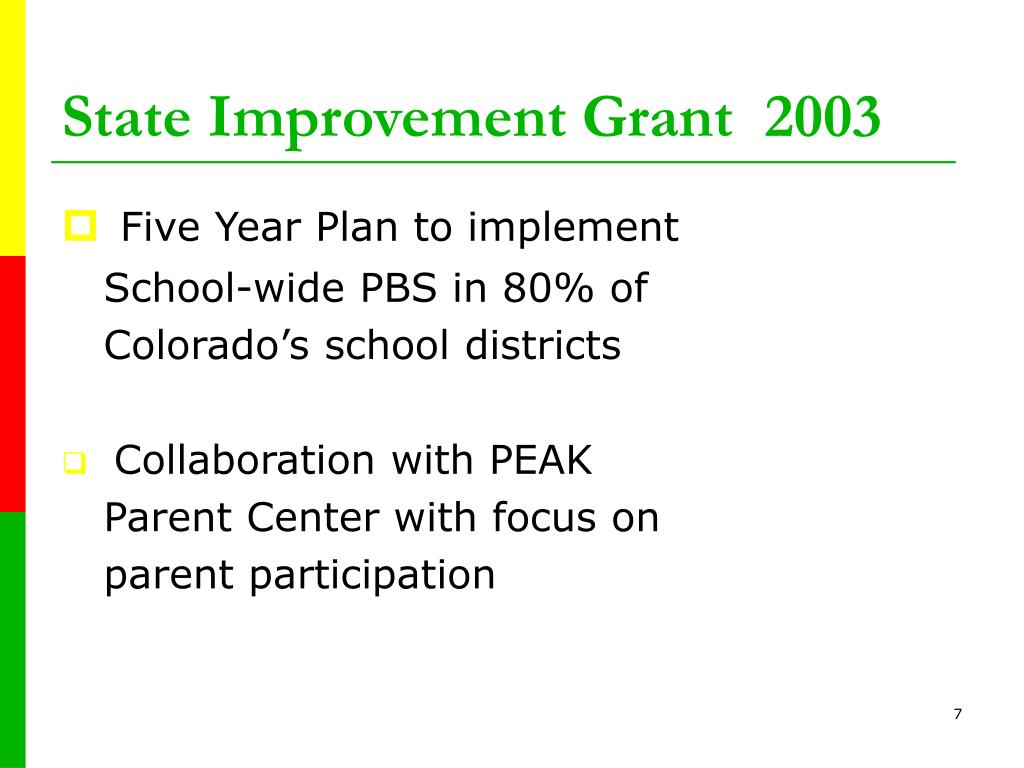 State Improvement Grant  2003