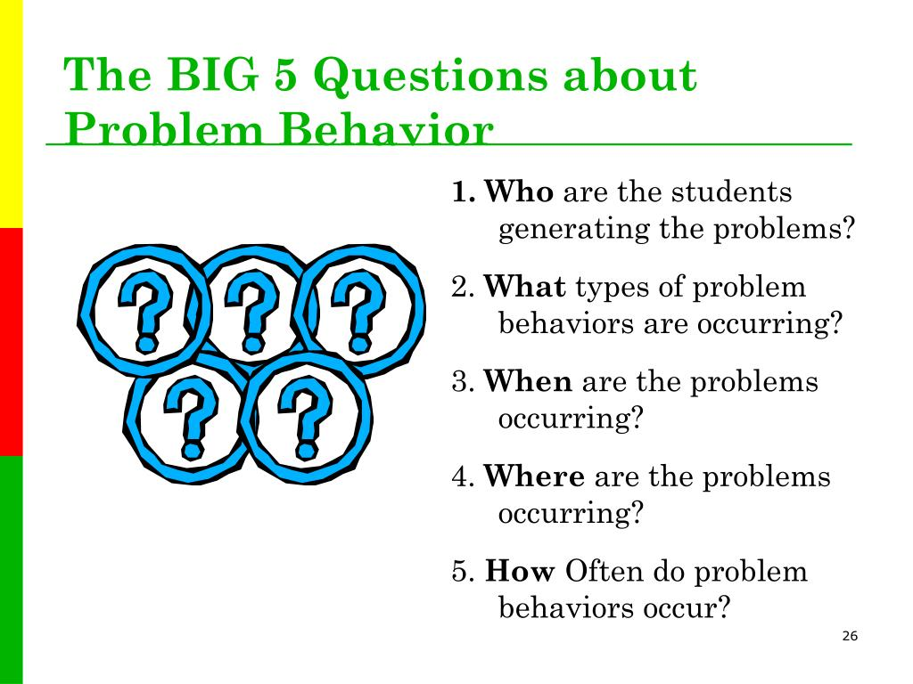 The BIG 5 Questions about