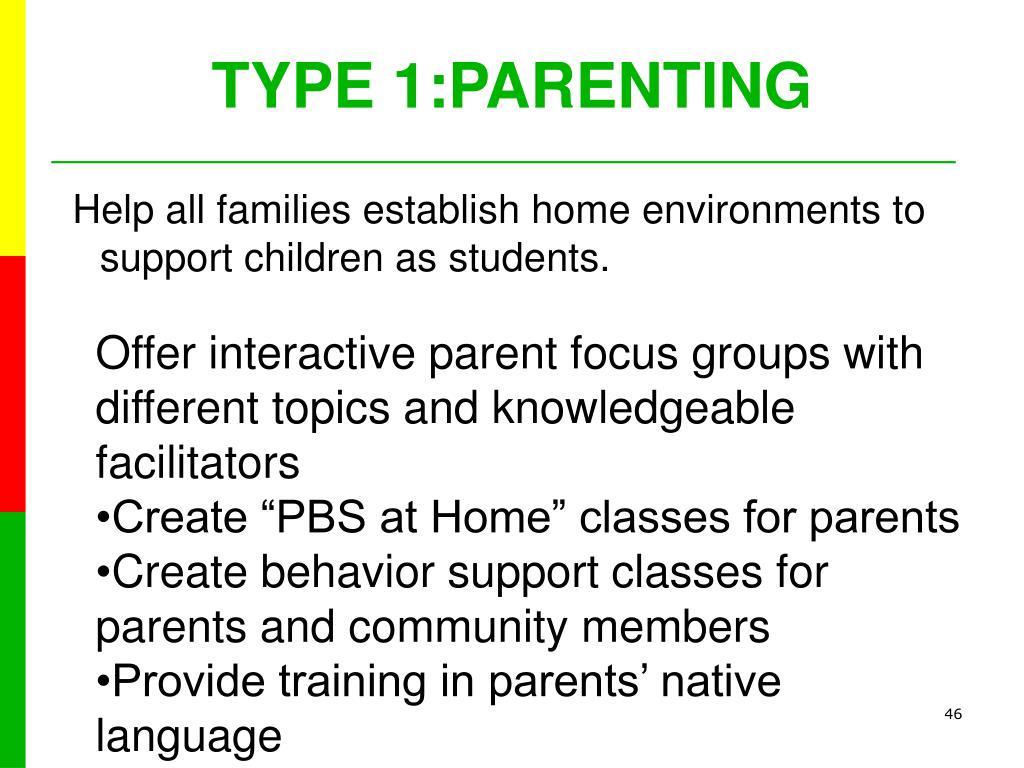 TYPE 1:PARENTING