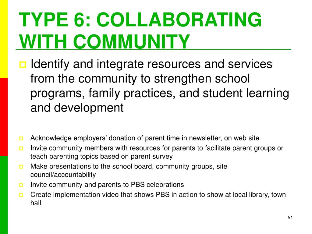 TYPE 6: COLLABORATING WITH COMMUNITY