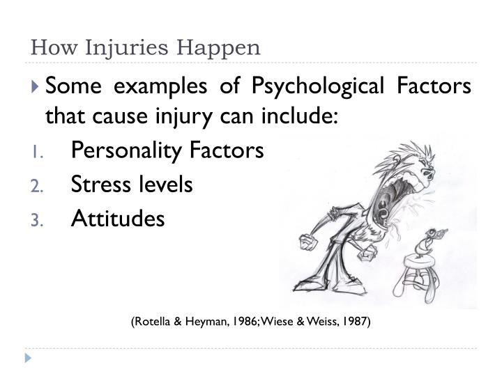Ppt Athletic Injuries And Psychology Powerpoint Presentation Id