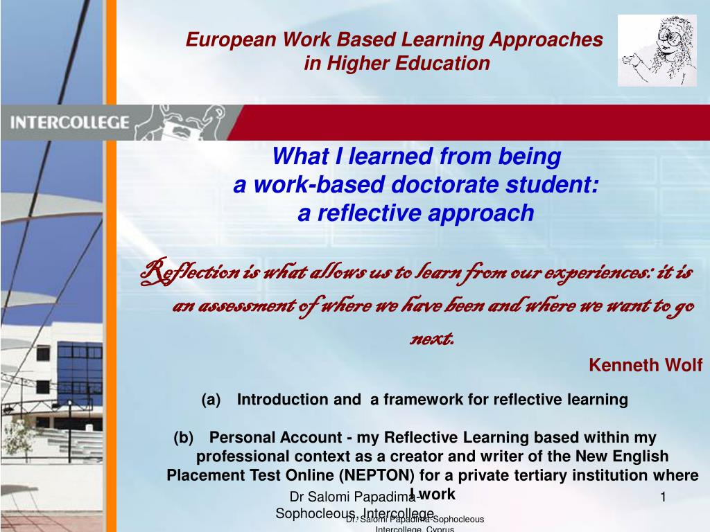 European Work Based Learning Approaches