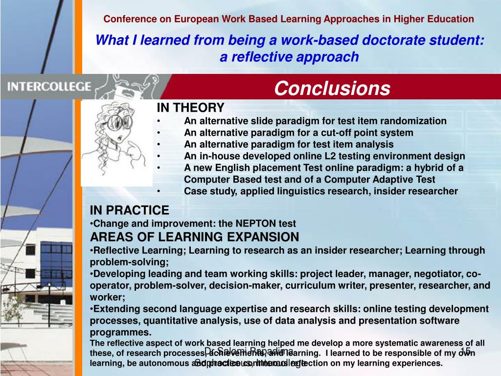 Conference on European Work Based Learning Approaches in Higher Education