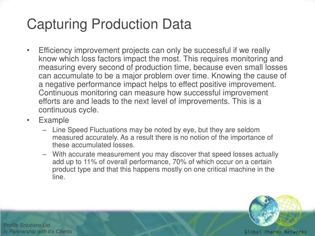 Capturing Production Data