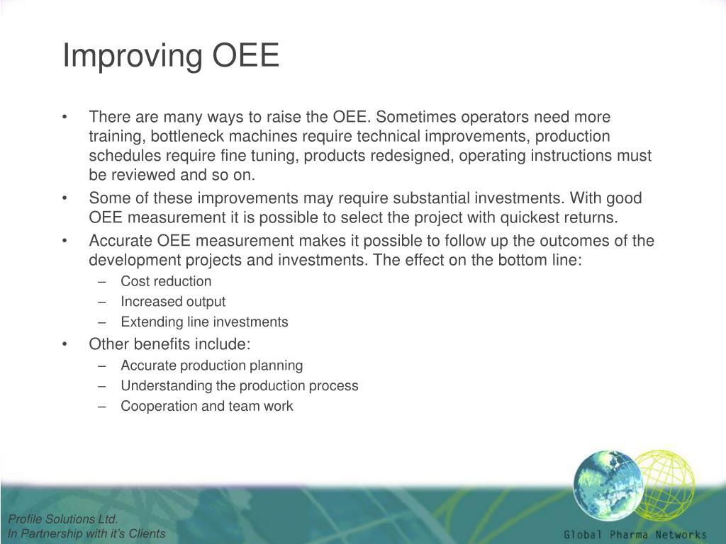 Improving OEE