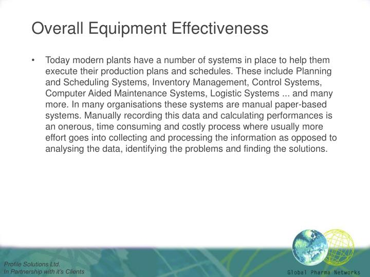 Overall equipment effectiveness2