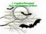 3 cognitive perceptual signs and symptoms of stress