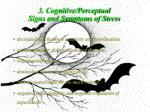 3 cognitive perceptual signs and symptoms of stress44