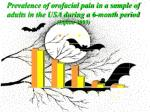 prevalence of orofacial pain in a sample of adults in the usa during a 6 month period lipton 1993