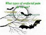 what types of orofacial pain do we see