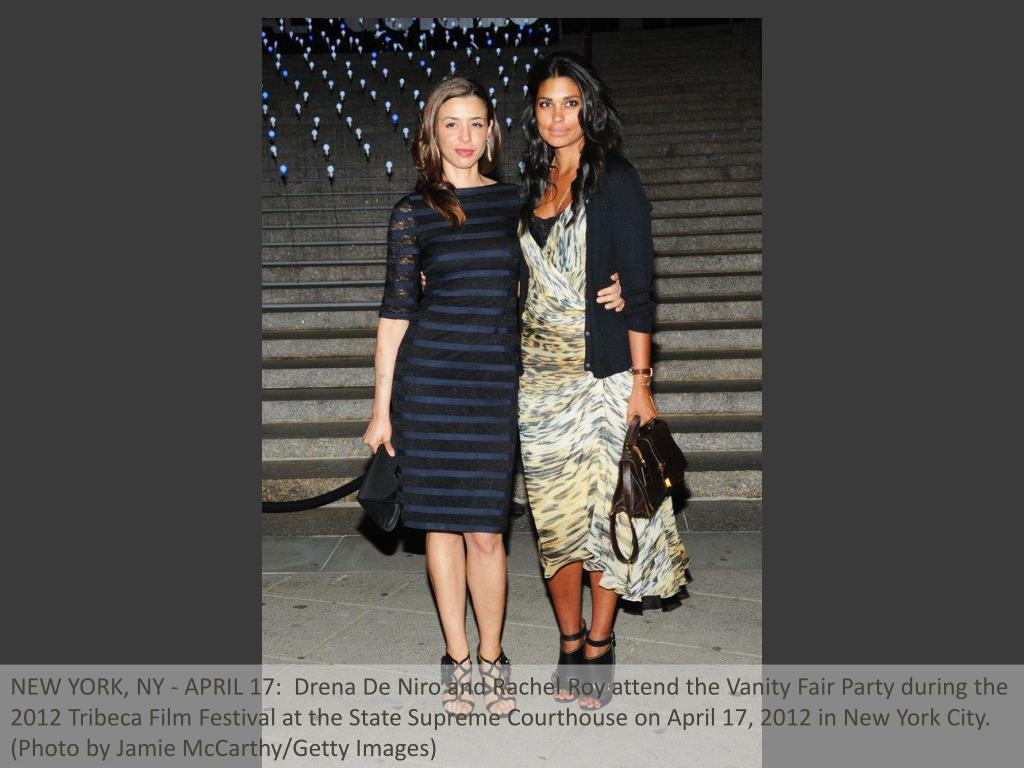 NEW YORK, NY - APRIL 17:  Drena De Niro and Rachel Roy attend the Vanity Fair Party during the 2012 Tribeca Film Festival at the State Supreme Courthouse on April 17, 2012 in New York City.  (Photo by Jamie McCarthy/Getty Images)