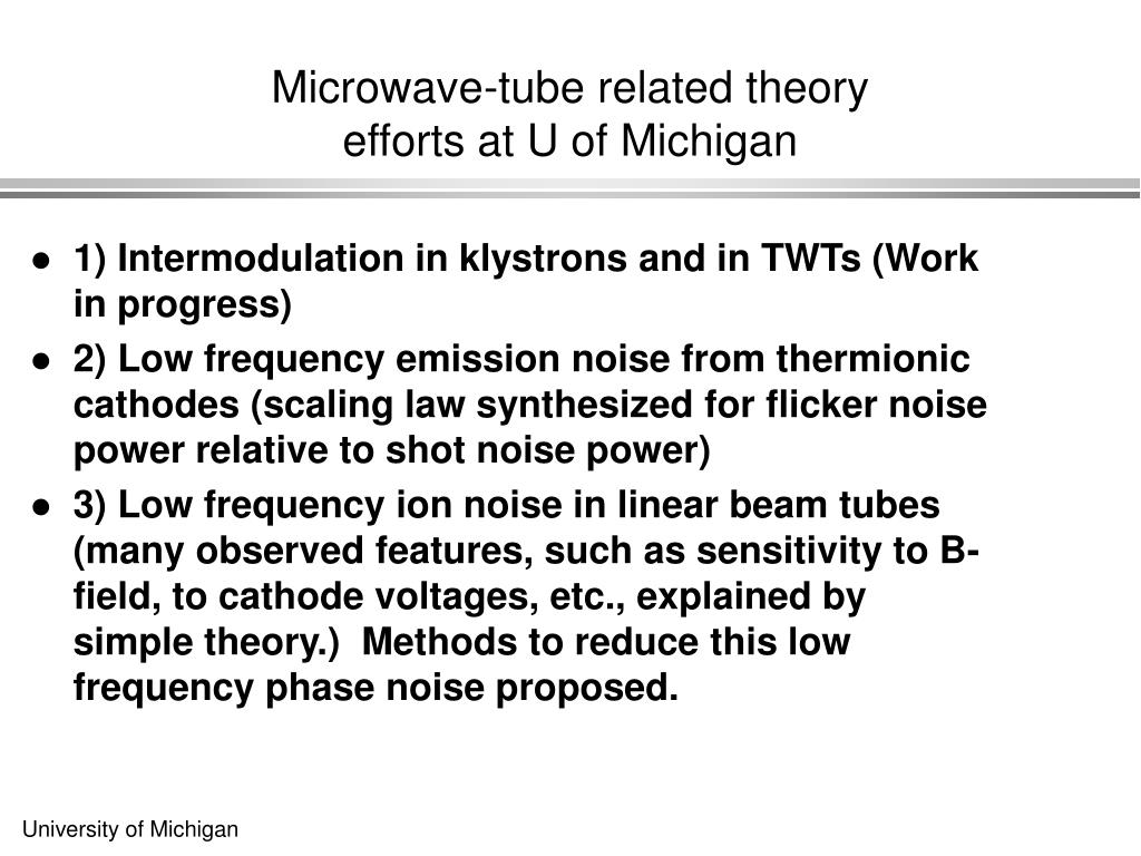Microwave-tube related theory