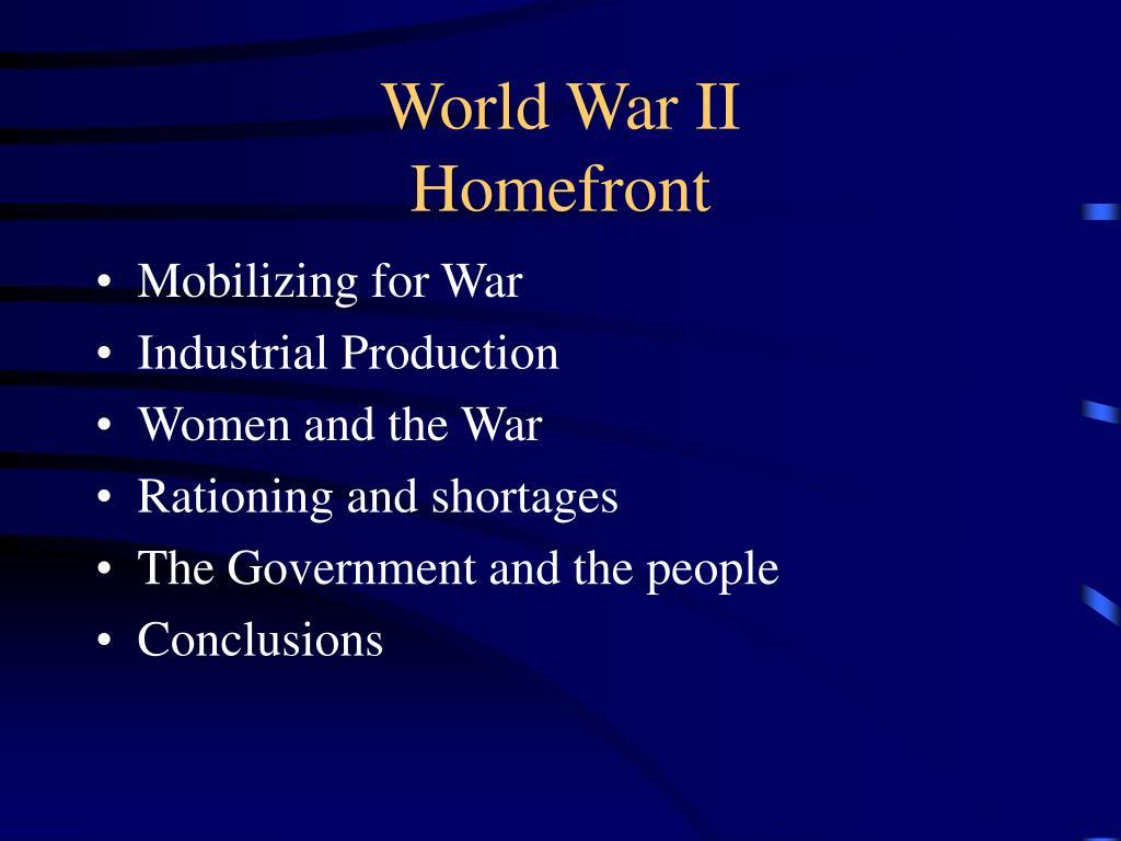 world war ii homefront l.