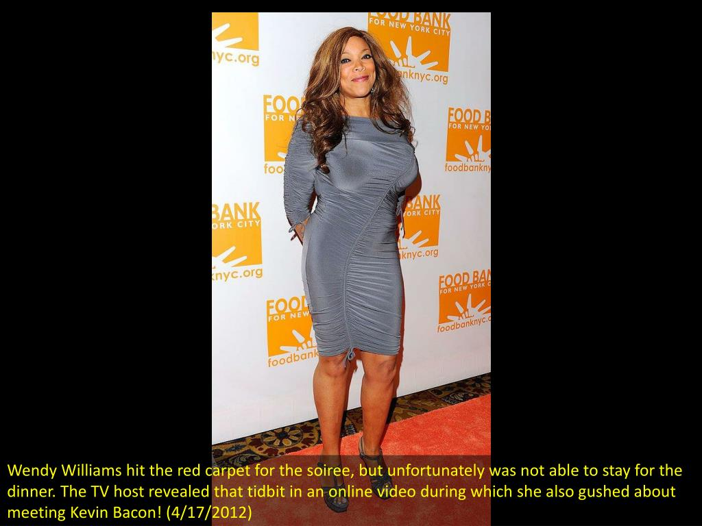 Wendy Williams hit the red carpet for the soiree, but unfortunately was not able to stay for the dinner. The TV host revealed that tidbit in an online video during which she also gushed about meeting Kevin Bacon! (4/17/2012)