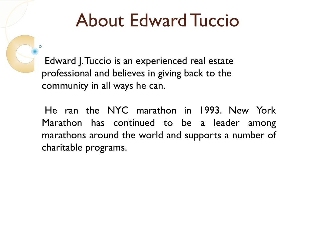 About Edward Tuccio