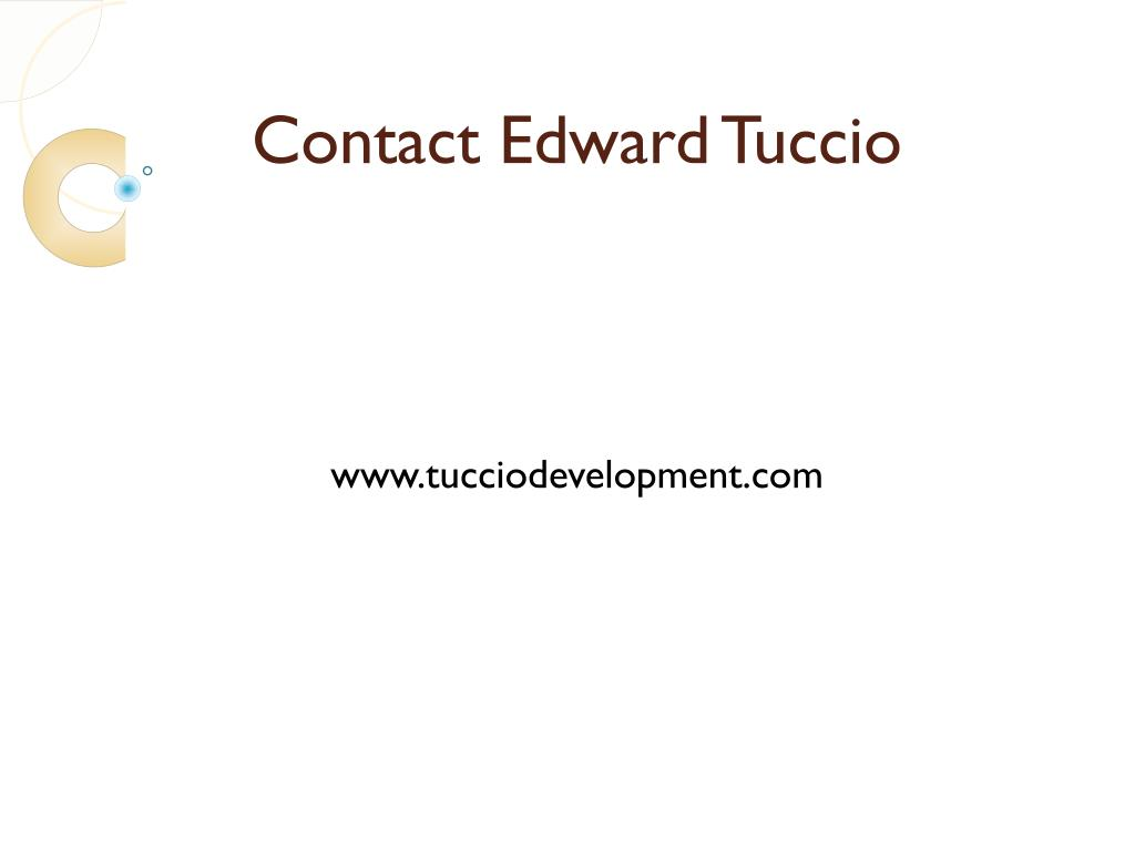 Contact Edward Tuccio