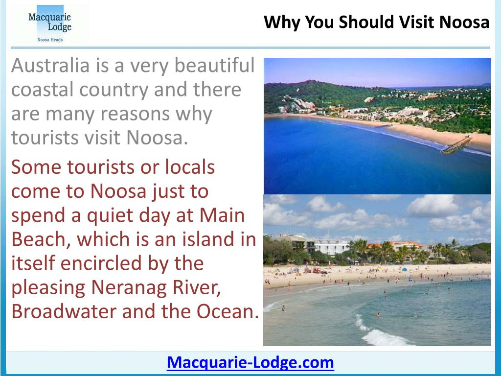 Australia is a very beautiful coastal country and there are many reasons why tourists visit Noosa.