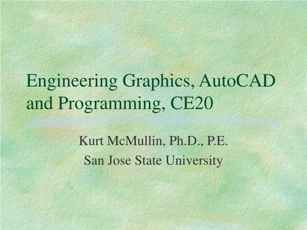 engineering graphics autocad and programming ce20 l.
