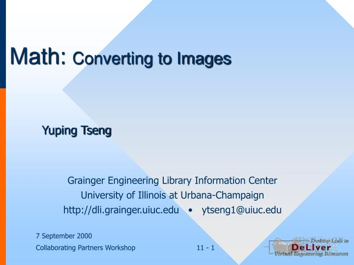 Math converting to images