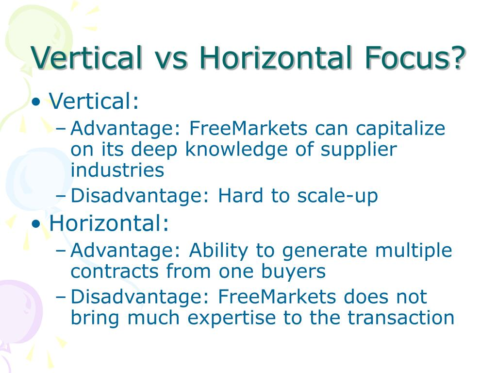 Vertical vs Horizontal Focus?
