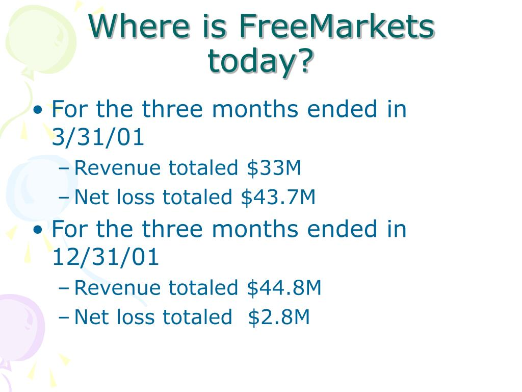 Where is FreeMarkets today?
