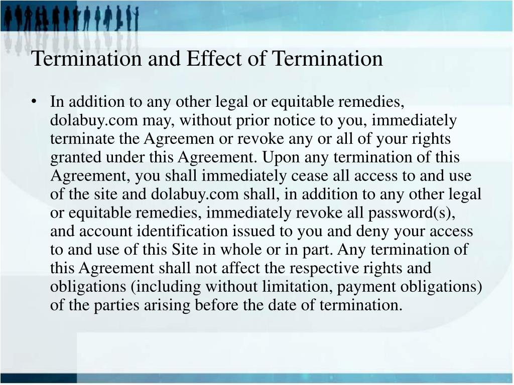 Termination and Effect of Termination