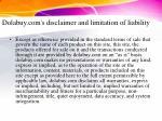 dolabuy com s disclaimer and limitation of liability