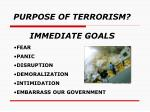 purpose of terrorism immediate goals